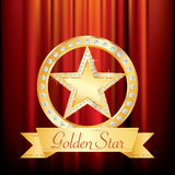 Gold star ring Royalty Free Stock Photos