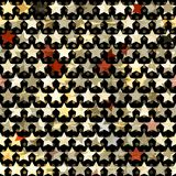 Gold star seamless. (eps 10 Stock Photography