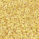 Gold star seamless pattern Stock Photography