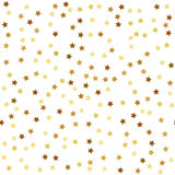 Gold star seamless pattern Stock Photos