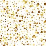 Gold star seamless pattern. Vector illustration of Gold star seamless pattern Royalty Free Stock Photo