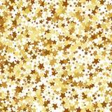 Gold star seamless pattern Stock Image