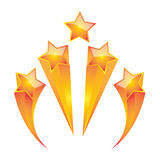 Gold star set  vector illustrator Stock Photo