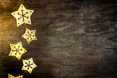 Gold star snowflakes Royalty Free Stock Photo