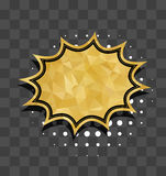 Gold star sparkle comic text bubble Royalty Free Stock Image