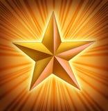 Gold star with starburst light blast Royalty Free Stock Image