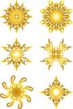 Gold star symbol. Set of gold star symbol Royalty Free Stock Photos