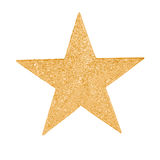 Gold star. A gold star to decorate a Christmas tree Royalty Free Stock Photo