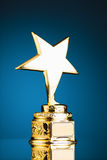 Gold star trophy Stock Image