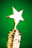 Gold star trophy Stock Photos