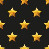 Gold Star Universal vector seamless patterns Royalty Free Stock Images