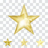 Gold star vector background Stock Images