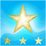 Gold star vector background Stock Photography