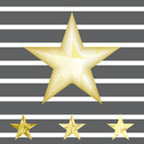 Gold star vector background. Low poly gold star make with triangles. Flickering polygonal star vector icon Stock Photo