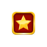 Gold star. Vector Royalty Free Stock Photos