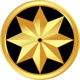 Gold star Royalty Free Stock Photos