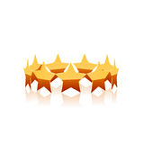 Gold star vector. Royalty Free Stock Photo
