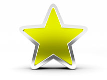 Gold star on white background Royalty Free Stock Photography