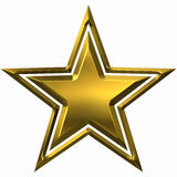 Gold star on a white background Royalty Free Stock Image