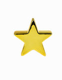 Gold star. On white background Stock Photos