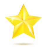 Gold star  on white background Stock Images