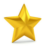 Gold star on white Royalty Free Stock Images
