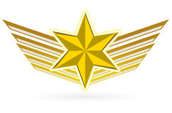 Gold star wings Royalty Free Stock Photo