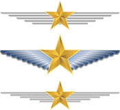 Gold Star Wings Stock Image