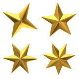 Gold stars Royalty Free Stock Image