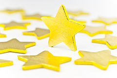 Gold stars. Royalty Free Stock Photos