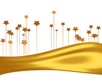 Gold stars Royalty Free Stock Photo