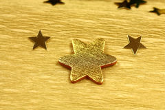 Gold stars Royalty Free Stock Images