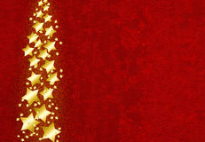 Gold Stars. Christmas card with gold stars Royalty Free Stock Photo