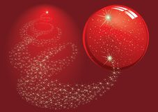 Gold stars. Christmas background vector Royalty Free Stock Photo