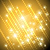 Gold stars background. Falling gold stars or meteorites background vector eps10 illustration Royalty Free Stock Images