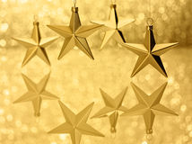 Gold Stars Bokeh Glitter Background Royalty Free Stock Images