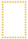 Gold stars border Royalty Free Stock Image