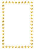 Gold stars border. Illustration in white background Royalty Free Stock Image