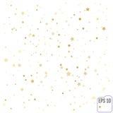 Gold stars. Confetti celebration, Falling golden abstract decora Stock Photos