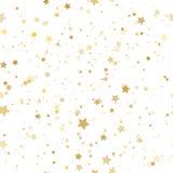 Gold stars. Confetti celebration, Falling golden abstract decora Royalty Free Stock Photos