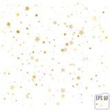 Gold stars. Confetti celebration, Falling golden abstract decora Stock Photo