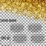 Gold stars. Confetti celebration, Falling golden abstract decora Royalty Free Stock Images