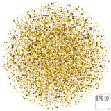 Gold stars. Confetti celebration, Falling golden abstract decora Stock Photos