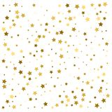 Gold stars. Confetti celebration, Falling golden abstract decora. Tion for party, birthday celebrate, anniversary or event, festive. Festival decor. Vector Royalty Free Stock Photo