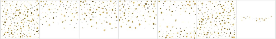 Gold stars. Confetti celebration, Falling golden abstract decora. Tion for party, birthday celebrate, anniversary or event, festive. Festival decor. Vector Royalty Free Stock Images