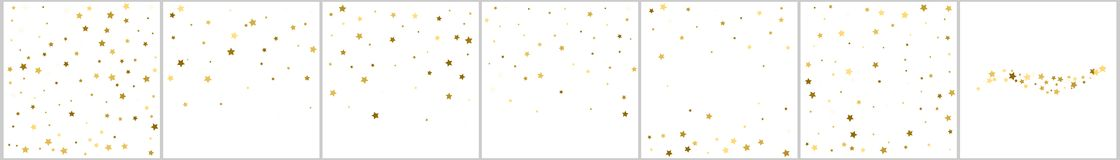 Gold stars. Confetti celebration, Falling golden abstract decora. Tion for party, birthday celebrate, anniversary or event, festive. Festival decor. Vector Stock Images