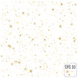 Gold stars. Confetti celebration, Falling golden abstract. Decoration for party, birthday celebrate, anniversary or event, festive. Festival decor. Vector Royalty Free Stock Photo