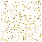 Gold stars. Confetti celebration, Falling golden abstract. Decoration for party, birthday celebrate, anniversary or event, festive. Festival decor. Vector Stock Photo