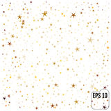 Gold stars. Confetti celebration. Vector Royalty Free Stock Photography