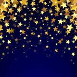 Gold Stars On The Dark Background Royalty Free Stock Image